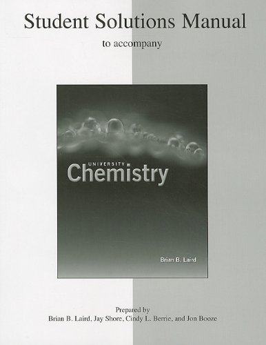 9780073107363: University Chemistry: Student's Solutions Manual