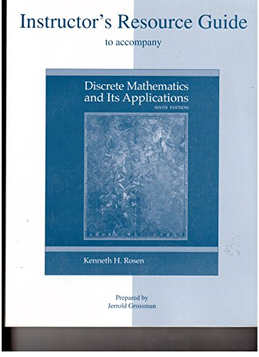 9780073107813: Instructor's Resource Guide to accompany Discrete Mathematics and Its Applications - Sixth Edition