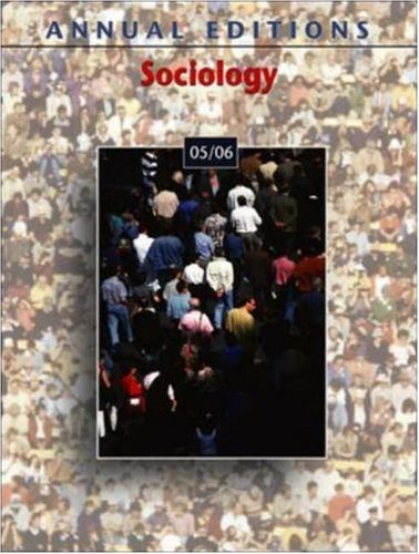 9780073108360: Annual Editions: Sociology 05/06