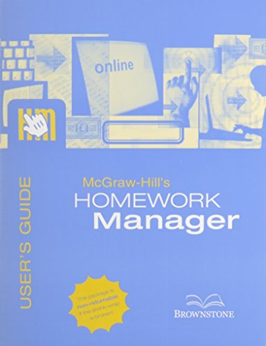 9780073109664: McGrawhill's Homework Manager User's Guide and Access Code to Accompany Managerial Accounting 11E