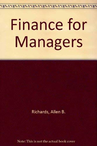9780073121642: Finance for Managers