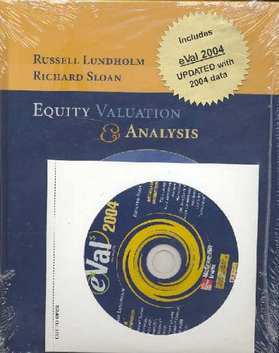 9780073121673: Equity Valuation and Analysis with Eval 2003 and 2004 CD-ROM