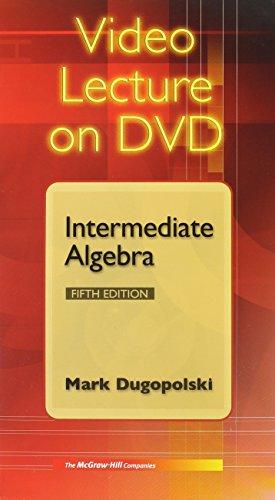 9780073121840: Video Lecture on DVD - Intermediate Algebra