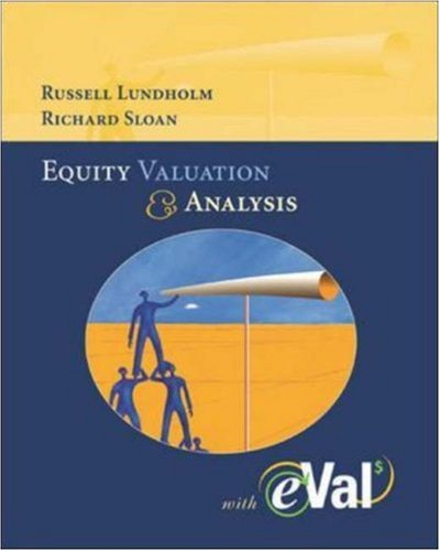 MP Equity Valuation and Analysis with eVal 2004 CD-ROM: Lundholm, Russell, Sloan, Richard
