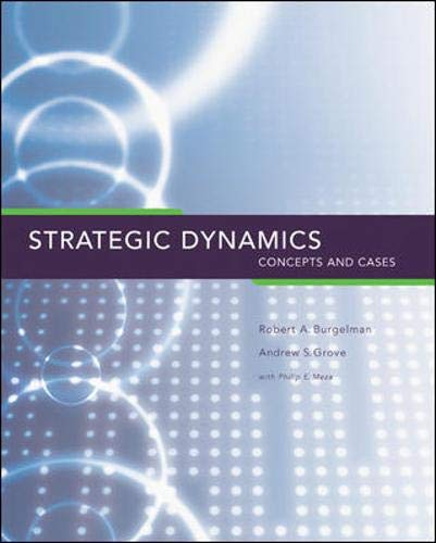 Strategic Dynamics : Concepts and Cases: Philip E. Meza,