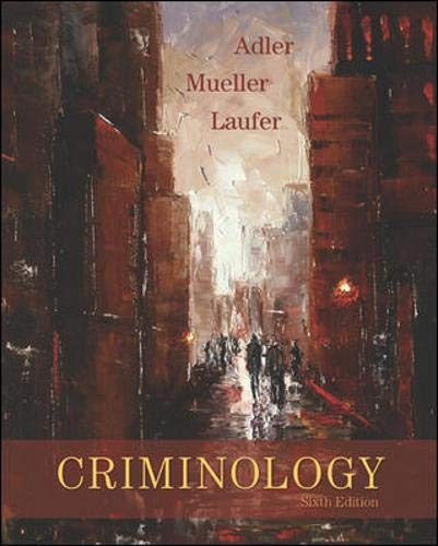 9780073124469: Criminology