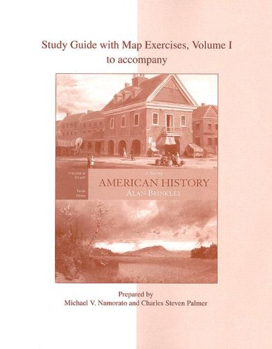 9780073124933: Study Guide with Map Exercises, Volume I to accompany American History: A Survey - Volume II: To 1877 (12th edition)