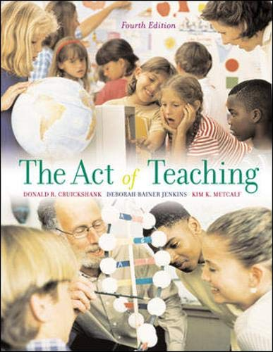9780073126500: The Act of Teaching, 4th Edition