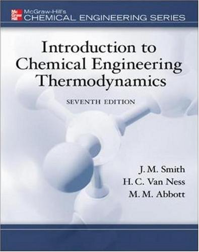 9780073126975: MP Introduction to Chemical Engineering Thermodynamics