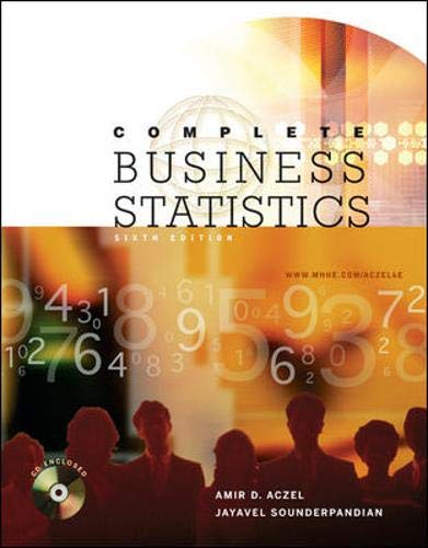 Complete Business Statistics with Student CD: Amir D Aczel