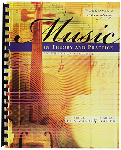 9780073127415: Workbook to Accompany Music in Theory and Practice, Volume 2