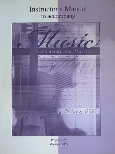 9780073127439: Instructor's Manual to accompany Music in Theory and Practice, Eighth Edition, Volume II