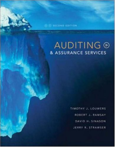 Auditing & Assurance Services: Timothy Louwers, Robert