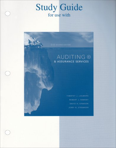 9780073128252: Study Guide to accompany Auditing & Assurance Services