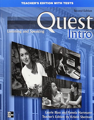 9780073128290: Quest Intro Level Listening and Speaking Teacher's Edition