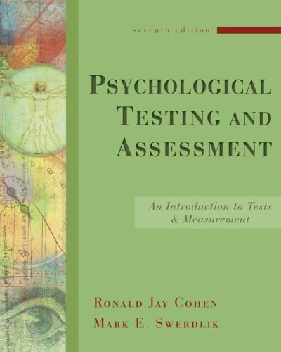 9780073129099: Psychological Testing and Assessment: An Introduction to Tests and Measurement