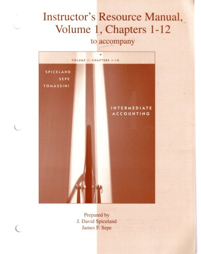 9780073130385: Instructors Resource Manual Volume 1 to
