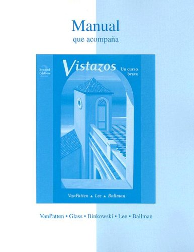 9780073130590: Workbook/ Lab Manual t/a Vistazos