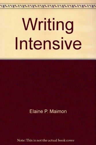 Writing Intensive: Elaine P. Maimon