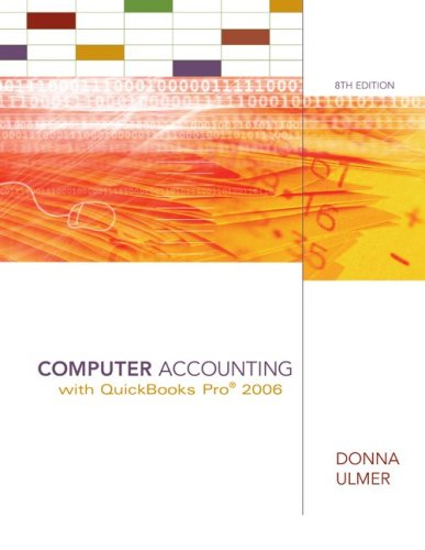 9780073131146: Computer Accounting with QuickBooks 2006