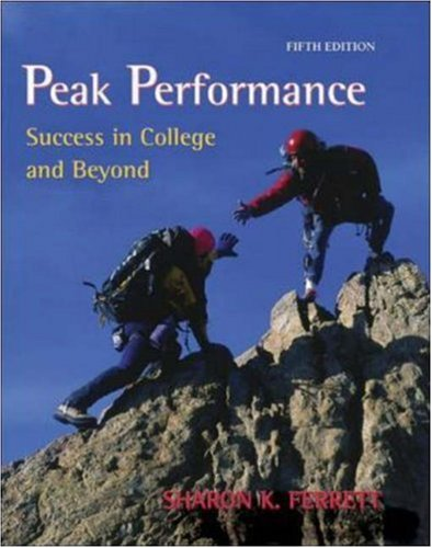 9780073133454: Peak Performance: Success in College and Beyond with online access card