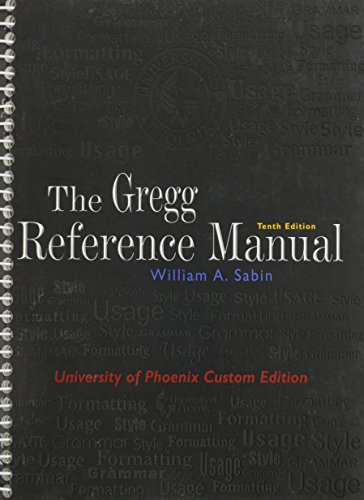 9780073133485: The Gregg Reference Manual (University of Phoenix Custom Edition) Edition: tenth