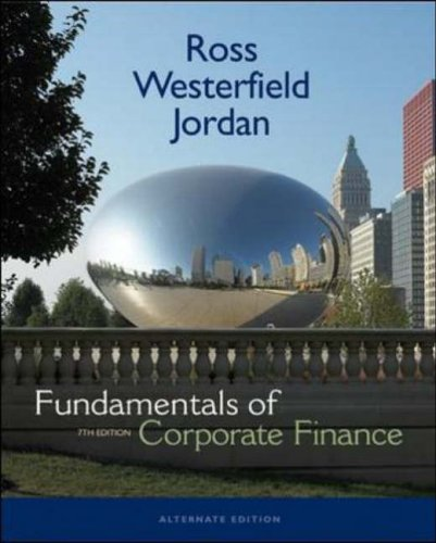 9780073134291: Fundamentals of Corporate Finance Alternate Edition + S&P card + Student CD (McGraw-Hill/Irwin Series in Finance, Insurance and Real Estate)