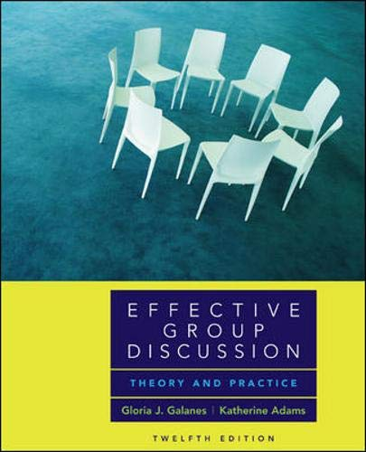 9780073135236: Effective Group Discussion: Theory and Practice