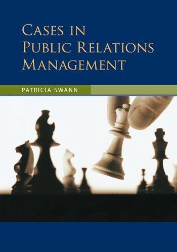 9780073135656: Cases in Public Relations Management