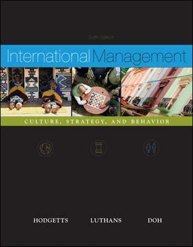International Management: Culture, Strategy and Behavior w/: Richard M Hodgetts,
