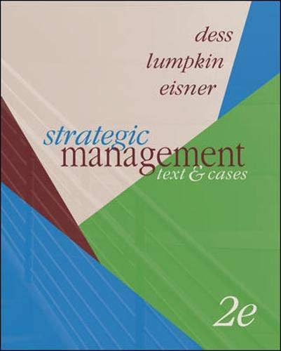 9780073136172: Strategic Management: Text and Cases