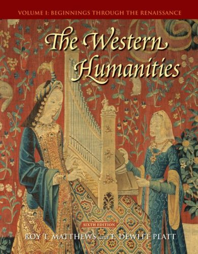 9780073136370: The Western Humanities, Volume 1: Beginnings Through the Renaissance