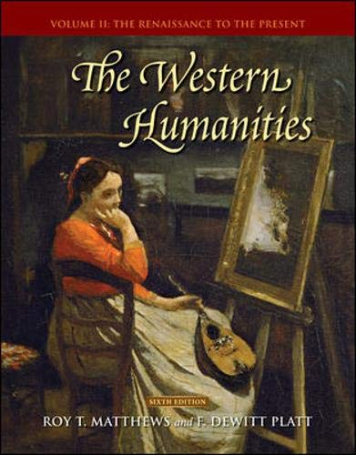 9780073136387: The Western Humanities, Volume 2