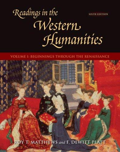 9780073136394: Readings in the Western Humanities, Volume 1