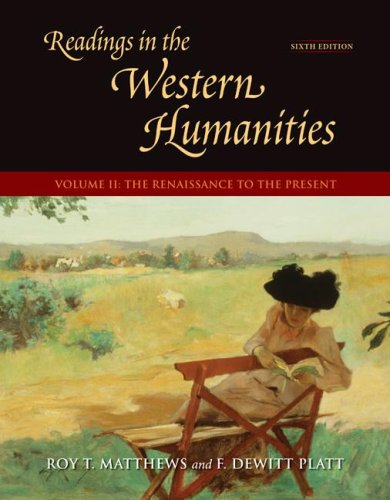 9780073136400: Readings in the Western Humanities, Volume 2