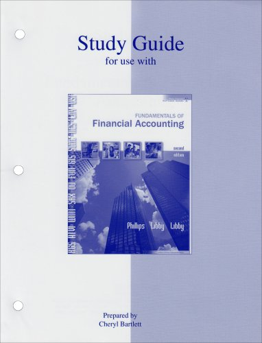 9780073136585: Study guide for Fundamentals of Financial Accounting
