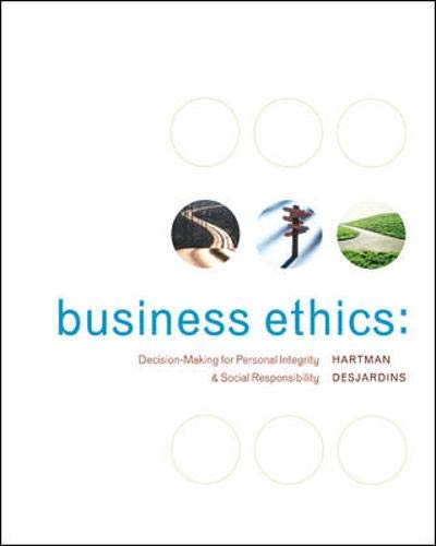 9780073136868: Business Ethics: Decision-Making for Personal Integrity & Social Responsibility