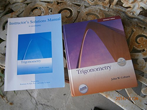 9780073137049: Trigonometry (Instructor's Annotated Edition) by John W. Coburn (2008) Hardcover
