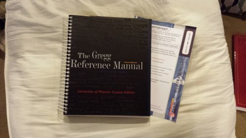 9780073137698: Gregg Reference Manual (University of Phoenix 10th Custom Edition) Edition: tenth