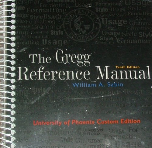 9780073137698: Gregg Reference Manual (University of Phoenix 10th Custom Edition)