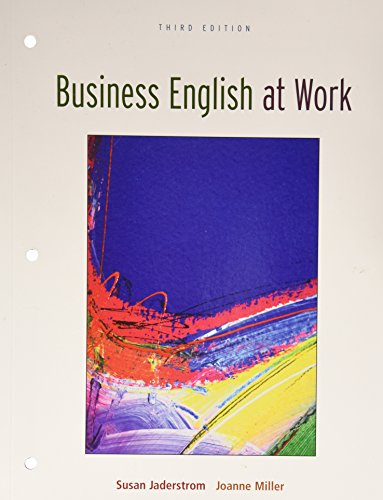 9780073137872: Business English at Work