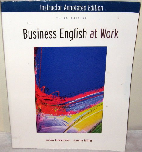 9780073137902: Business English at Work