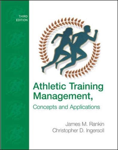 9780073138916: Athletic Training Management: Concepts and Applications with eSims Bind-in Card