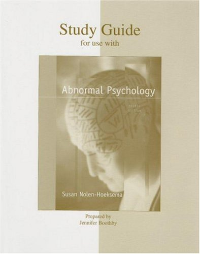 9780073191423: Student Study Guide to accompany Nolen Abnormal Psychology