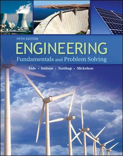 9780073191584: Engineering Fundamentals and Problem Solving