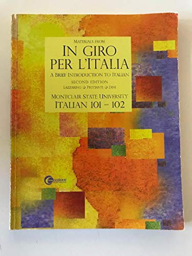 9780073192291: In Giro Per L'Italia: A Brief Introduction to Italian (Italian Edition)