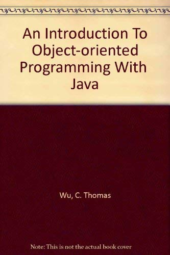 9780073193335: An Introduction To Object-oriented Programming With  Java