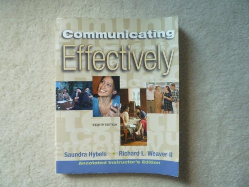 9780073193472: Communicating Effectively