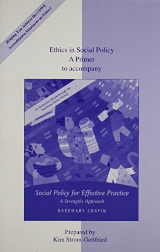 9780073193892: Social Policy for Effective Practice: A Strengths Approach (New Directions in Social Work)