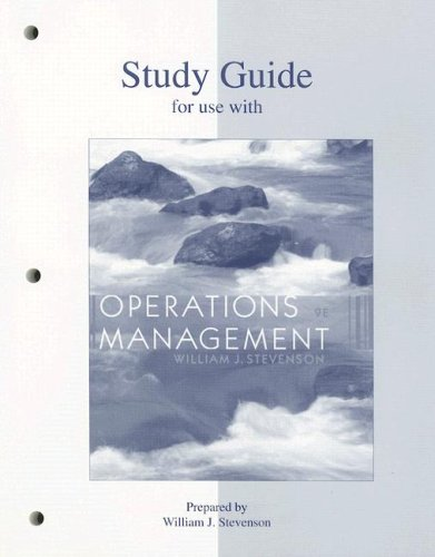 9780073195858: Study Guide to accompany Production/Operations Management